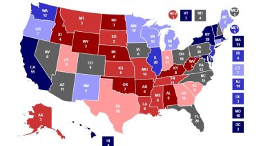 Votes for president are made state by state, rather than an overall popular vote.