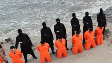Islamic State militants force Egyptian Coptic Christians to kneel before beheading them in Libya in just one of many atrocities committed by the terrorist group.