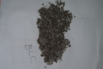 Metal filings alleged to be from beer cans found in a BLC dairy tanker.