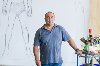 Renowned Brisbane artist Gordon Hookey was one of the first artists to take up residence in the Paint Factory site.