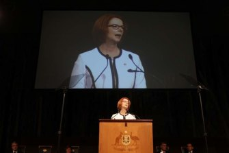 Julia Gillard delivered the National Apology for Forced Adoption.