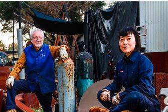 Robertson-Swann and Ayako Saito in 2019.