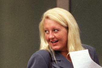 Nicola Gobbo outside the Supreme Court in 2004, at the height of her criminal defence career.