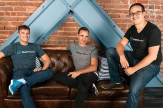 Founders of DroneDeploy: Jono Millin, Nick Pilkington, and Mike Winn.