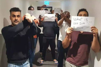 Eleven refugees remain at the Park Hotel in Carlton after dozens of their friends were released on bridging visas.