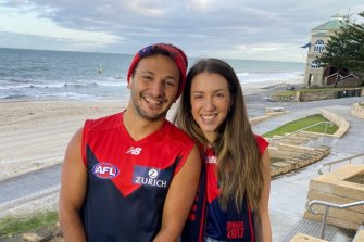 Phillip de Winter and wife Chloe are heading to the AFL grand final in Perth.