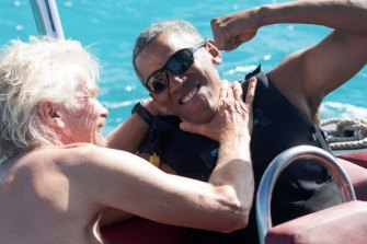 Branson hosted former US President Barack Obama on Necker, his Caribbean island, after Obama's second term as US president.