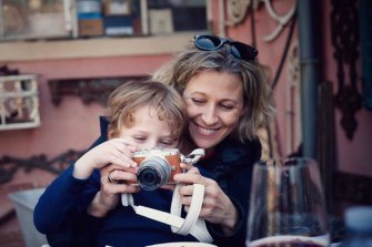 Lisa Brancatisano and with her son Matteo.