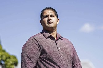 Amit Nand grabbed what he could, in his case a small pole, to confront the knife-wielding attacker.