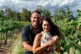 NRL star Josh Reynolds and then-girlfriend Arabella Del Busso.
