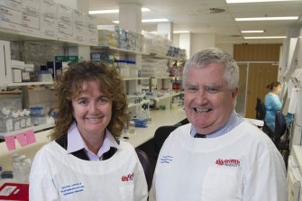 Professors Sonya Marshall-Gradisnik and Don Staines from Griffith University's Menzies Health Institute.