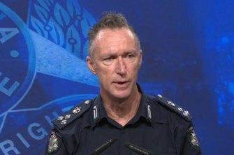 Commander Mick Frewen from Victoria Police Crime Command.