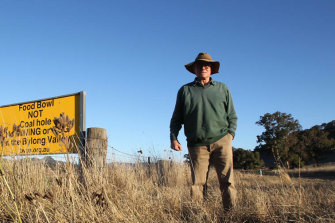 Third-generation farmer Peter Grieve, whose farm is in the Bylong Valley, is among those opposed to plans for a coal mine in his region.