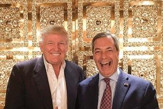Former UKIP leader Nigel Farage visited Donald Trump in New York after the 2016 election.