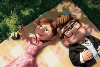 Couple goals with a dash of style. Carl and Ellie in the Pixar film Up.