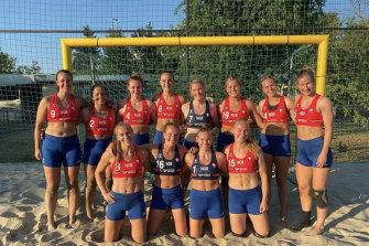 Norway's beach handball team wore shorts instead of bikini bottoms at a European championship match.