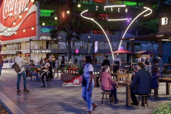 Light installations and pedestrian-friendly streetscapes are part of a highly-anticipated plan to improve the area.