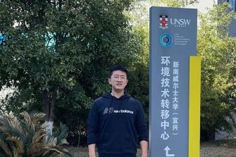 Engineering student Kun Deng who is studying at the UNSW hub in China.