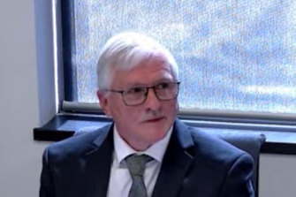 WA Gaming and Wagering Commission chairman Duncan Ord giving evidence at the PCRC this week.