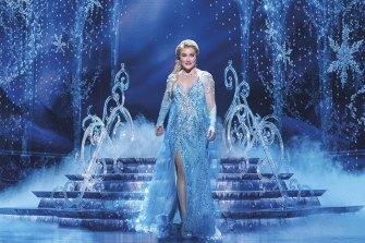 Jemma Rix in Frozen the Musical.