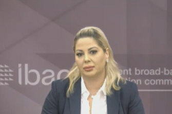 Marie Tsakopoulos appears as a witness at the IBAC Operation Esperance public hearings on Monday.