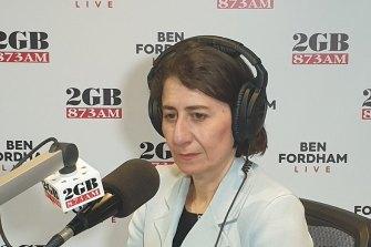 Premier Gladys Berejiklian on Monday.