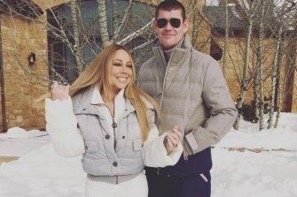 Mariah Carey with James Packer in a picture from her Instagram feed.