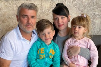 Martha Walkowsky, husband Brian Fisher, and twins Phoebe and George are stranded in the UAE with three flights so far cancelled including one just before Christmas.