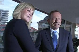 Tony Abbott and Zali Steggall.