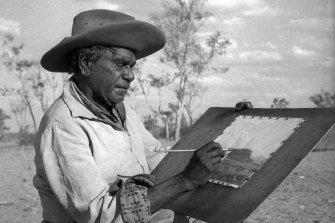 Albert Namatjira in 1958: he was 'the beginning of a recognition of Aboriginal people by white Australia.'