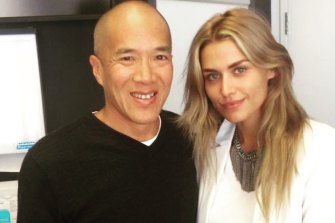 Cheyenne Tozzi stands in support of Dr Charlie Teo.