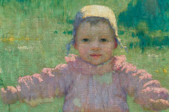 A stand-out: Detail of Iso Rae's Young Girl, Étaples, c. 1892.