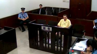 Anthony Bannister appearing in Guangzhou People's  Intermediate Court in 2014.