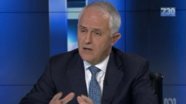 Prime Minister Malcolm Turnbull feels the heat from Leigh Sales on ABC's <i>7.30</i> on Wednesday night.