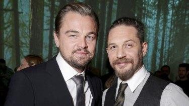 Powerful performances ... Leonardo DiCaprio and Tom Hardy, who plays adversary John Fitzgerald in <i>The Revenant</i>.