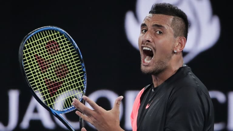 Holding court: Nick Kyrgios remains the local star attraction in Australia's grand slam event.