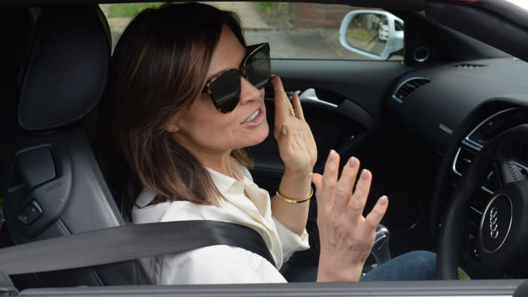Lisa Wilkinson leaves her Sydney house, the morning after announcing her shock move from Nine to Ten.