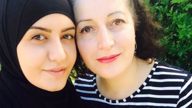 Ola with her mother, Salwa Haydar.