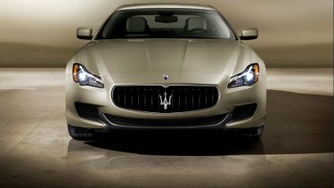 A Maserati Quattroporte GTS. The 3.8-liter twin-turbo V-8 engine has 523 horsepower and 479 pound-feet of torque.