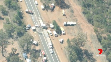 """NSW Police Superintendent Peter McKenna said the crash was """"another tragedy on our roads""""."""