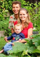 Roman Spur with his wife Jana and daughter.