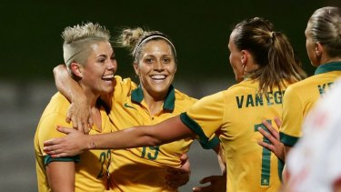 Hard road: Michelle Heyman and the Matildas face a gruelling Olympics qualifying campaign.