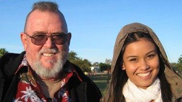 Yasmin McAllister with her father Glynn.