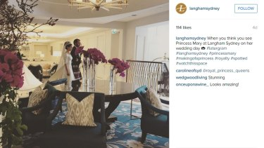 Overshare...The Langham Hotel slipped a little peek of filming back in August.