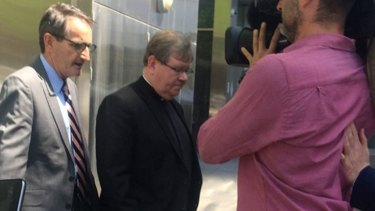 Father John Walshe leaving the County Court in 2015.