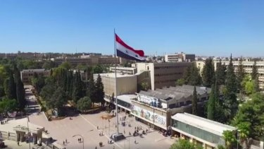 The Syrian Ministry of Tourism used a drone to show life goes on in non-ravaged Aleppo.
