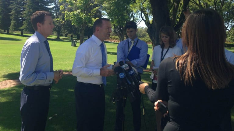Tony Abbott at Houghton Wines in the Swan Valley, Perth, where he questioned the UN report.