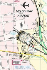 """In 1982, a cartographer's note saying ''Looks Funny Eh?"""" - indicating the Tullamarine Airport terminal - made it through on 4000 copies."""