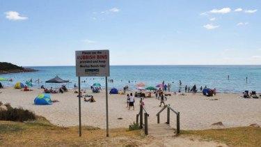 Popular Meelup Beach, where the severed shark's head was found.