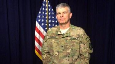 Colonel Steve Warren, spokesman for Operation Inherent Resolve.